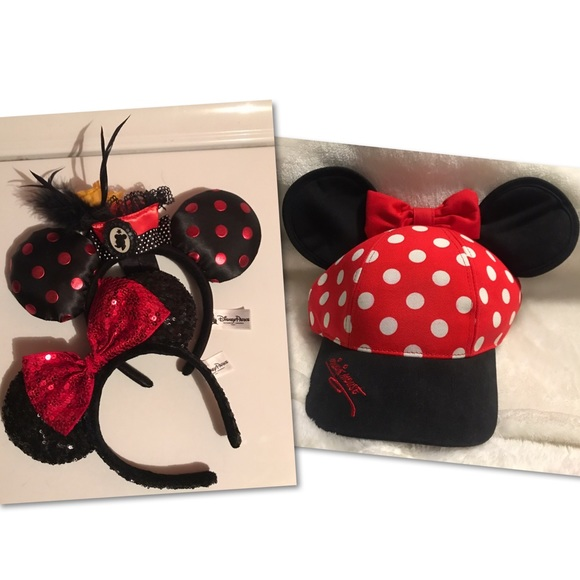 531c22b84e180 Disney Minnie Mouse Ears Headband And Cap